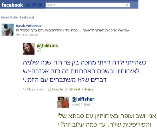 אירוויזיון סטאטוסים וציוצים / צלם: פייסבוק